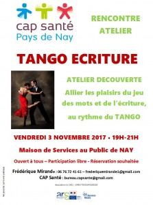 20171103 affiche atelier tango écriture fred mirande