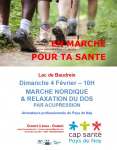 20180204 marche nordique & relaxation dos par acupression