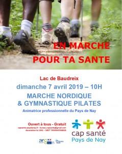 20190407 marche nordique & gymnastique pilates