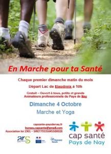 affiche en marche pour ta santé 4 octobre 2015