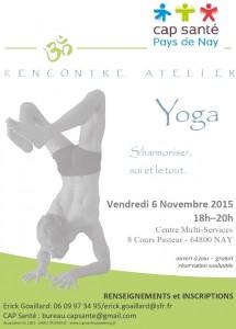 maquette affiche atelier yoga erick