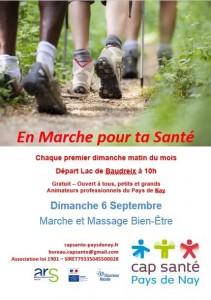affiche en marche pour ta santé 6 septembre 2015